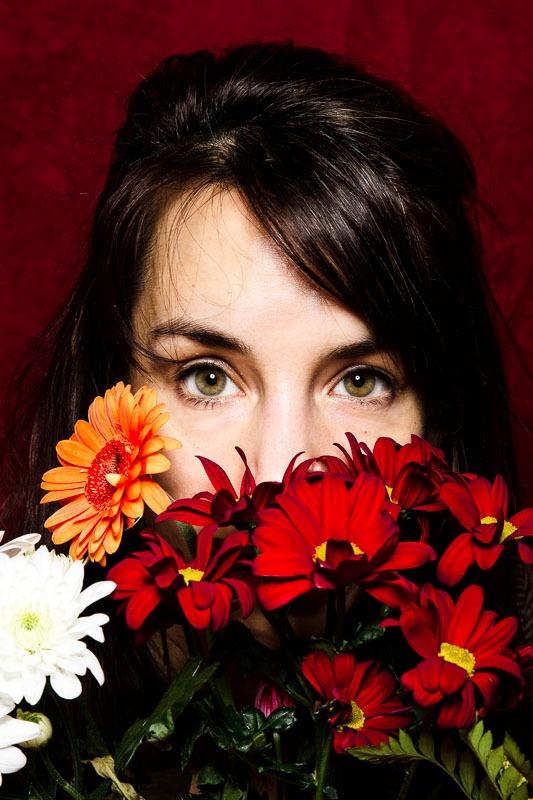 autoportrait photo avec fleurs de Florence Moncenis